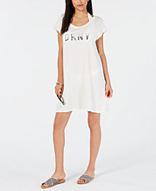 DKNY Logo T-Shirt Dress Cover-Up