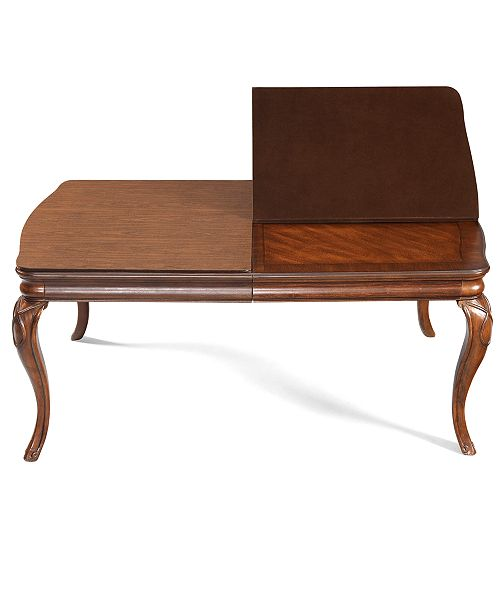 Furniture Bordeaux Table Pad Furniture Macys - Brown table pad