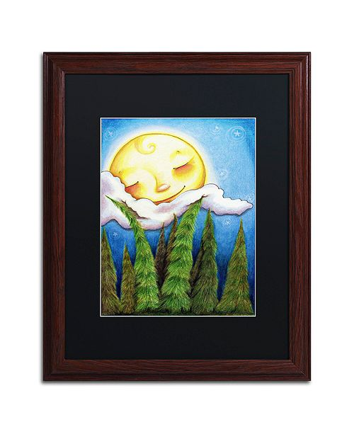 "Trademark Global Jennifer Nilsson Sleep Sweet Forest Moon Matted Framed Art - 24"" x 32"" x 2"""