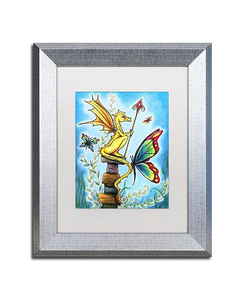 """Trademark Global Jennifer Nilsson Tiny Sentry Matted Framed Art - 11"""" x 14"""" x 0.5"""""""