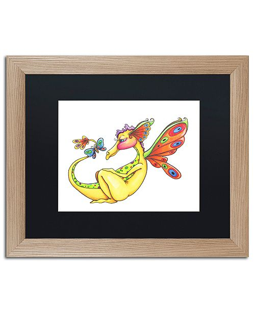 "Trademark Global Jennifer Nilsson Cheerful - Dragon 10 Matted Framed Art - 11"" x 11"" x 0.5"""