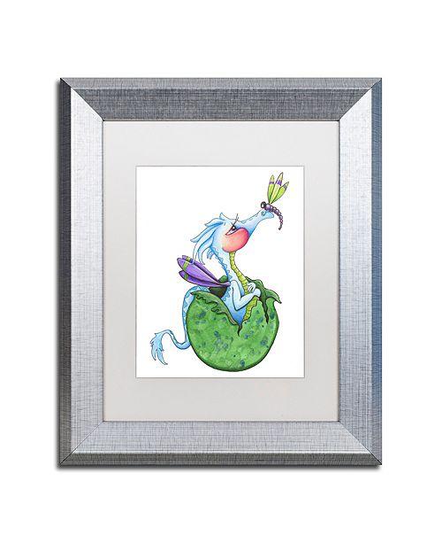 "Trademark Global Jennifer Nilsson Little Boy Blue - Dragon Matted Framed Art - 11"" x 14"" x 0.5"""