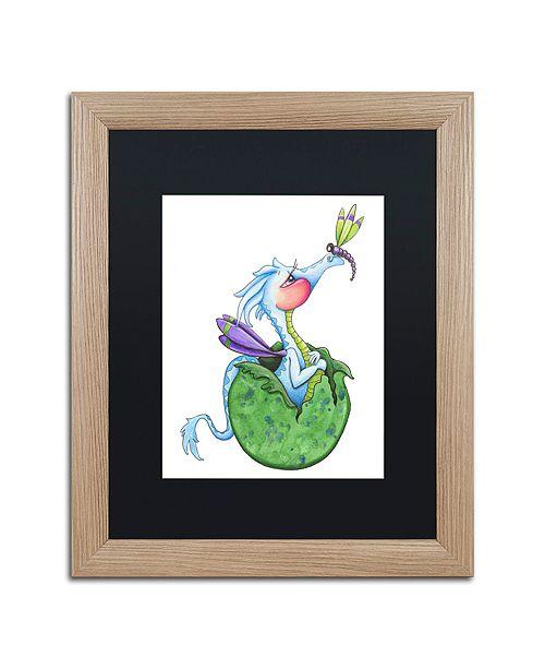 "Trademark Global Jennifer Nilsson Little Boy Blue - Dragon Matted Framed Art - 16"" x 20"" x 0.5"""
