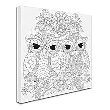 Hello Angel Night Owls 5 Canvas Art