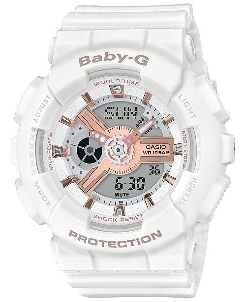 ec3649ed3 ... G-Shock Baby-G Women's Analog-Digital White Resin Strap Watch 43.4 ...