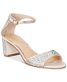 Jewel Badgley Mischka Jet Evening Pumps