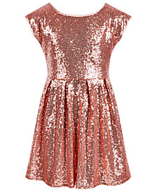 Epic Threads Big Girls Sequined Skater Dress, Created for Macy's