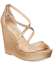 Jewel Badgley Mischka Averie Evening Wedge Sandals