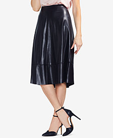 Vince Camuto Faux-Leather A-Line Skirt
