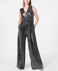 Embellished Surplice Jumpsuit