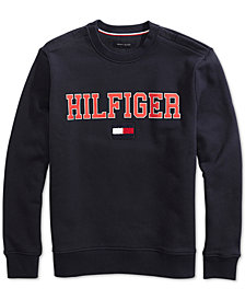 Tommy Hilfiger Adaptive Collegiate Crew Sweatshirt with Magnetic Shoulders