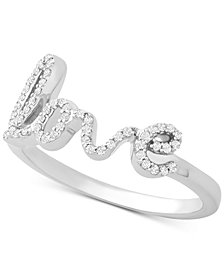 Wrapped™ Diamond Love Statement Ring (1/6 ct. t.w.) in 14k White Gold, Created for Macy's