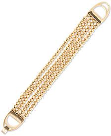 Lauren Ralph Lauren Imitation Pearl Multi-Row Flex Bracelet