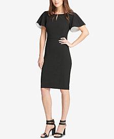 DKNY Flutter-Sleeve Sheath Dress, Created for Macy's