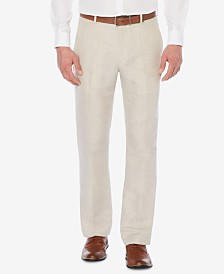 Perry Ellis Men's Big & Tall Linen Pants