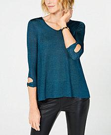 John Paul Richard Petite Back Lace-Up Sweater