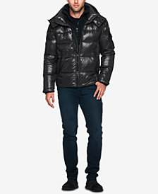 S13 Men's Quilted Down Jacket with Hood