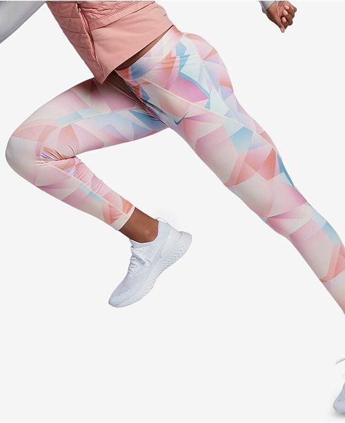 d96916d50ad4f Nike Speed Printed Running Ankle Leggings & Reviews - Pants & Capris ...