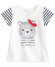 First Impressions Baby Girls Cotton Bear-Print T-Shirt, Created for Macy's