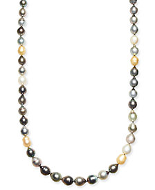 "Multi-Pearl (8-11mm) Graduated Strand 35-36"" Necklace"