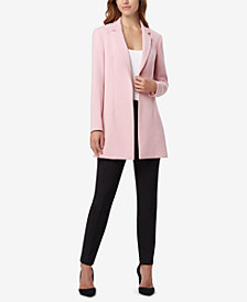 Tahari ASL Notch-Collar Open-Front Jacket