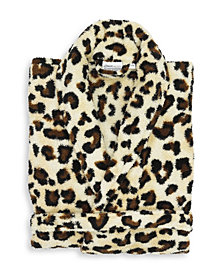 Linum Home Textiles Super Plush Luxurious Soft Leopard Print Bathrobe