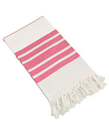 Linum Home Herringbone Pestemal Beach Towel