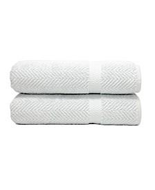 Herringbone 2-Pc. Bath Towel Set