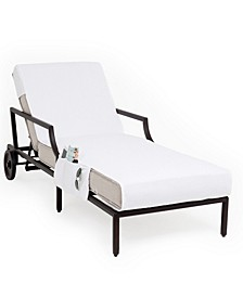 Standard Size Chaise Lounge Cover with Side Pockets
