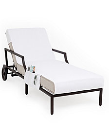 Linum Home Standard Size Chaise Lounge Cover with Side Pockets