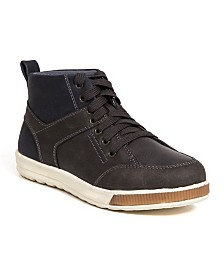 Deer Stags Little and Big Boys Landry Memory Foam Dress Casual Comfort High Top Sneaker Boot