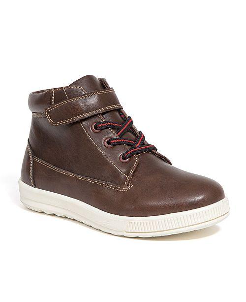 DEER STAGS Kid's Niles Memory Foam Dress Casual Comfort High Top Sneaker Boot (Big Kid/Little Kid)