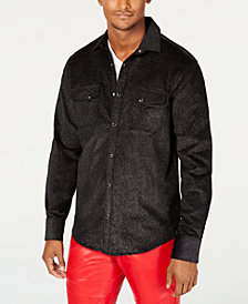 I.N.C. Men's Metallic Shirt, Created for Macy's