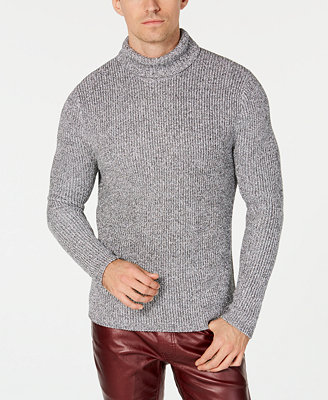 I.N.C. Men's Lurex Shine Textured Turtleneck Sweater, Created For Macy's by Inc International Concepts