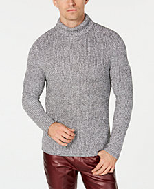 I.N.C. Men's Lurex Shine Textured Turtleneck Sweater, Created for Macy's