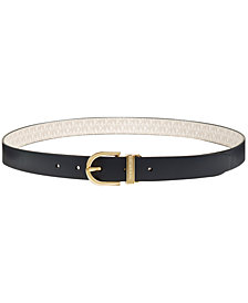MICHAEL Michael Kors Plus-Size Reversible Signature Belt
