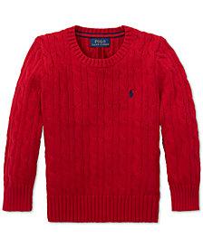 Polo Ralph Lauren Little Boys Cable-Knit Cotton Sweater