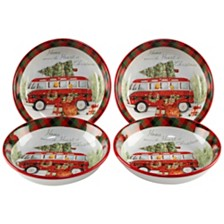 Certified International Home for Christmas 4-Pc. Soup/Pasta Bowl