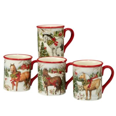 Christmas on the Farm 4-Pc. Mug asst.