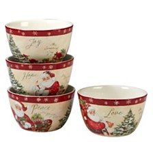 Certified International Holiday Wishes 4-Pc. Ice Cream Bowl asst.