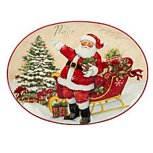 Certified International Holiday Wishes Oval Platter