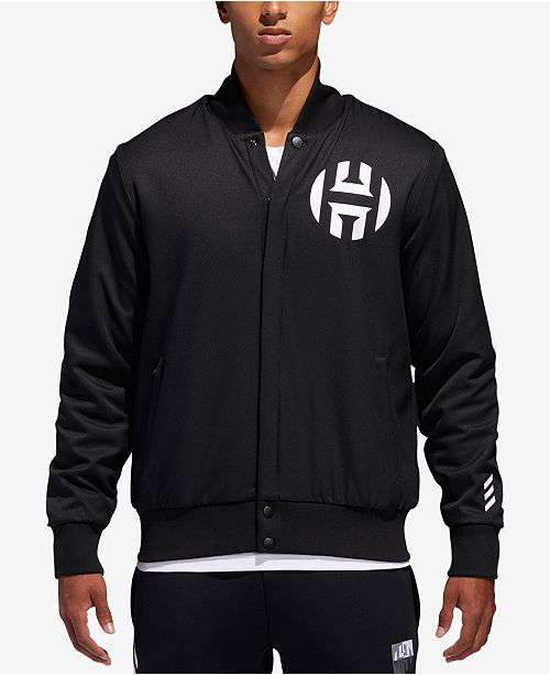 d337a22c6498 adidas Men s James Harden Bomber Jacket   Reviews - Coats   Jackets ...