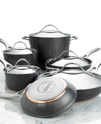 Anolon Nouvelle Hard Anodized Copper 11 Piece Cookware Set