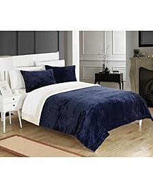 Evie 7-Pc King Sherpa Blanket Bedding Set
