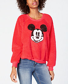 Jerry Leigh Juniors' Mickey Mouse Sequin Plush Sweatshirt