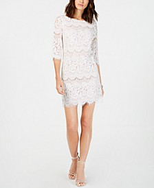 Petite Scalloped Lace Dress