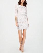 jessica howard petite scalloped lace dress