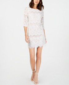 Jessica Howard Petite Scalloped Lace Dress
