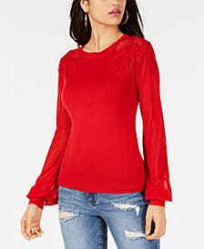 GUESS Holly Soutache-Trim Sweater