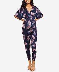 Maternity Floral-Print Jumpsuit